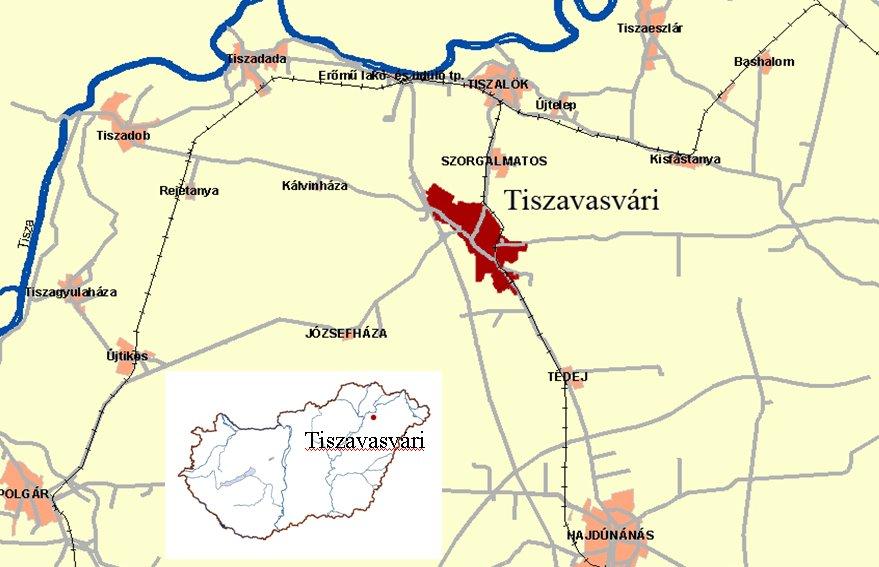 tiszavasvári térkép Tiszántúli Vízügyi Igazgatóság tiszavasvári térkép